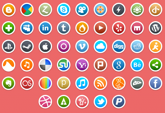 how to draw social media icons