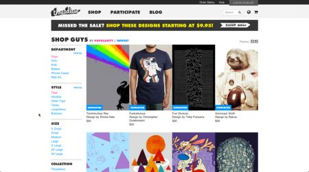 Threadless-stampa-e-vendita-tshirt-online