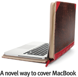 Custodia macbook borsa dal design di un libro