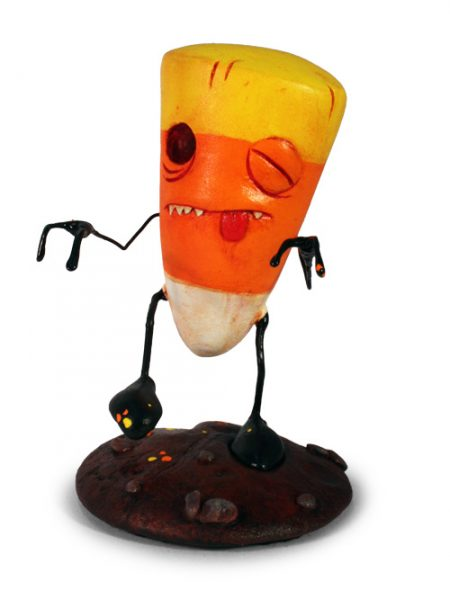 Sculture Halloween 3D - Zombie Candy Corn